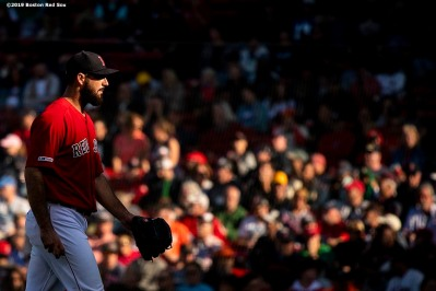 BOSTON, MA - SEPTEMBER 19: Brandon Workman #44 of the Boston Red Sox reacts during the ninth inning of a game against the San Francisco Giants on September 19, 2019 at Fenway Park in Boston, Massachusetts. (Photo by Billie Weiss/Boston Red Sox/Getty Images) *** Local Caption *** Brandon Workman