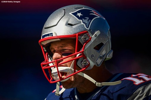 FOXBOROUGH, MA - SEPTEMBER 22: of the New England Patriots during a game against the New York Jets at Gillette Stadium on September 22, 2019 in Foxborough, Massachusetts. (Photo by Billie Weiss/Getty Images) *** Local Caption ***
