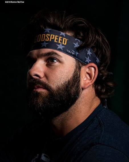 BOSTON, MA - SEPTEMBER 27: Mitch Moreland #18 of the Boston Red Sox looks on before a game against the Baltimore Orioles on September 27, 2019 at Fenway Park in Boston, Massachusetts. (Photo by Billie Weiss/Boston Red Sox/Getty Images) *** Local Caption *** Mitch Moreland