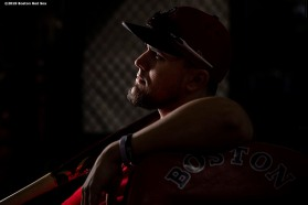 BOSTON, MA - SEPTEMBER 27: Michael Chavis #23 of the Boston Red Sox looks on before a game against the Baltimore Orioles on September 27, 2019 at Fenway Park in Boston, Massachusetts. (Photo by Billie Weiss/Boston Red Sox/Getty Images) *** Local Caption *** Michael Chavis