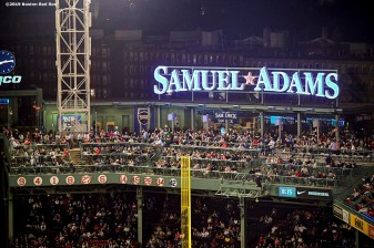 BOSTON, MA - SEPTEMBER 27: The Samuel Adams deck is shown during a game between the Boston Red Sox and the Baltimore Orioles on September 27, 2019 at Fenway Park in Boston, Massachusetts. (Photo by Billie Weiss/Boston Red Sox/Getty Images) *** Local Caption ***