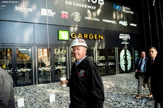 November 6, 2019 , Boston, MA: The grand opening of the Hub on Causeway is held at TD Garden in Boston, Massachusetts Wednesday, November 6, 2019. (Photo by Billie Weiss/TD Garden)