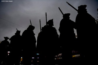 FOXBOROUGH, MA - NOVEMBER 24: The End Zone Militia look on before a game between the New England Patriots and the Dallas Cowboys at Gillette Stadium on November 24, 2019 in Foxborough, Massachusetts. (Photo by Billie Weiss/Getty Images) *** Local Caption ***