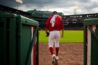 BOSTON, MA - APRIL 27: David Price #10 of the Boston Red Sox exits the bullpen before a game against the Tampa Bay Rays on April 27, 2019 at Fenway Park in Boston, Massachusetts. (Photo by Billie Weiss/Boston Red Sox/Getty Images) *** Local Caption *** David Price
