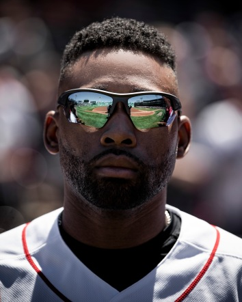BOSTON, MA - MAY 11: Jackie Bradley Jr. #19 of the Boston Red Sox looks on before a game against the Seattle Mariners on May 11, 2019 at Fenway Park in Boston, Massachusetts. (Photo by Billie Weiss/Boston Red Sox/Getty Images) *** Local Caption *** Jackie Bradley Jr.