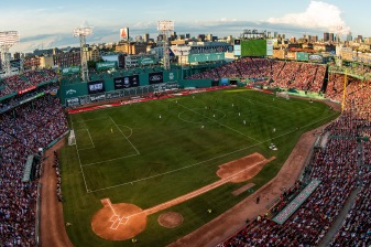 BOSTON, MA - JULY 21: A general view during a pre-season friendly match between Liverpool and Sevilla F.C. on July 21, 2019 at Fenway Park in Boston, Massachusetts. (Photo by Billie Weiss/Boston Red Sox/Getty Images) *** Local Caption ***