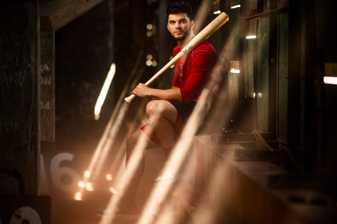 BOSTON, MA - JULY 30: Andrew Benintendi #16 of the Boston Red Sox poses for a portrait inside the Green Monster before a game against the Tampa Bay Rays on July 30, 2019 at Fenway Park in Boston, Massachusetts. (Photo by Billie Weiss/Boston Red Sox/Getty Images) *** Local Caption *** Andrew Benintendi
