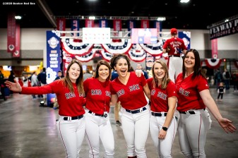 SPRINGFIELD, MA - JANUARY 18: Boston Red Sox ball girls pose during the 2020 Red Sox Winter Weekend on January 18, 2020 at MGM Springfield and MassMutual Center in Springfield, Massachusetts. (Photo by Billie Weiss/Boston Red Sox/Getty Images) *** Local Caption ***