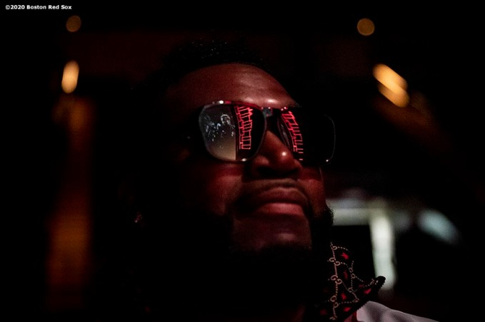 SPRINGFIELD, MA - JANUARY 18: Former designated hitter David Ortiz of the Boston Red Sox looks on from backstage during the 2020 Red Sox Winter Weekend on January 18, 2020 at MGM Springfield and MassMutual Center in Springfield, Massachusetts. (Photo by Billie Weiss/Boston Red Sox/Getty Images) *** Local Caption *** David Ortiz