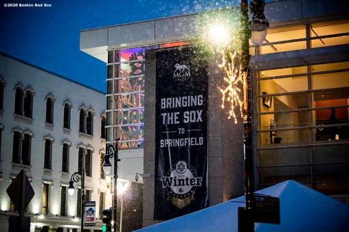 SPRINGFIELD, MA - JANUARY 18: A general exterior view of signage during the 2020 Red Sox Winter Weekend on January 18, 2020 at MGM Springfield and MassMutual Center in Springfield, Massachusetts. (Photo by Billie Weiss/Boston Red Sox/Getty Images) *** Local Caption ***