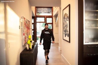 FORT LAUDERDALE, FL - DECEMBER 3: J.D. Martinez #28 of the Boston Red Sox tours his home on December 3, 2019 at in Fort Lauderdale, Florida. (Photo by Billie Weiss/Boston Red Sox/Getty Images) *** Local Caption *** J.D. Martinez