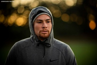 WESTON, FL - DECEMBER 3: Christian Vazquez #7 of the Boston Red Sox looks on during an early morning off-season workout on December 3, 2019 at in Weston, Florida. (Photo by Billie Weiss/Boston Red Sox/Getty Images) *** Local Caption *** Christian Vazquez