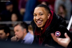 February 4, 2020, Chestnut Hill, MA: Grant Williams of the Boston Celtics attends a game between Boston College and Duke University at Conte Forum at Boston College in Chestnut Hill, Massachusetts Tuesday, February 4, 2020. (Photo by Billie Weiss/Boston College)
