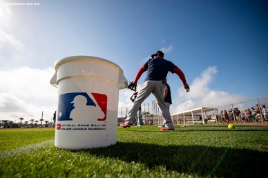 FT. MYERS, FL - FEBRUARY 17: A general view during a Boston Red Sox team workout on February 17, 2020 at jetBlue Park at Fenway South in Fort Myers, Florida. (Photo by Billie Weiss/Boston Red Sox/Getty Images) *** Local Caption ***