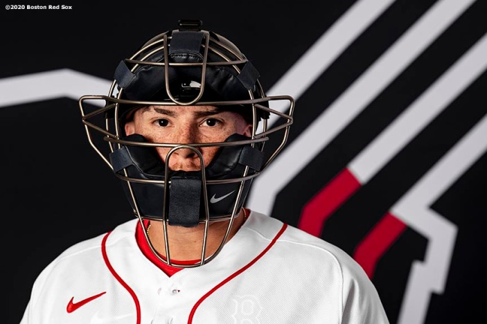 FT. MYERS, FL - FEBRUARY 19: Christian Vazquez #7 of the Boston Red Sox poses for a portrait during team photo day on February 19, 2020 at jetBlue Park at Fenway South in Fort Myers, Florida. (Photo by Billie Weiss/Boston Red Sox/Getty Images) *** Local Caption *** Christian Vazquez