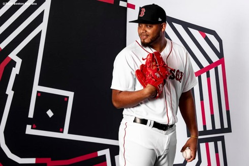 FT. MYERS, FL - FEBRUARY 19: Darwinzon Hernandez #63 of the Boston Red Sox poses for a portrait during team photo day on February 19, 2020 at jetBlue Park at Fenway South in Fort Myers, Florida. (Photo by Billie Weiss/Boston Red Sox/Getty Images) *** Local Caption *** Darwinzon Hernandez