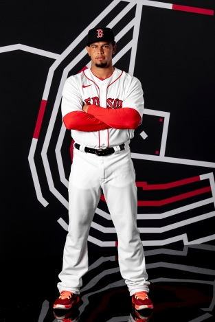 FT. MYERS, FL - FEBRUARY 19: Marco Hernandez #41 of the Boston Red Sox poses for a portrait during team photo day on February 19, 2020 at jetBlue Park at Fenway South in Fort Myers, Florida. (Photo by Billie Weiss/Boston Red Sox/Getty Images) *** Local Caption *** Marco Hernandez