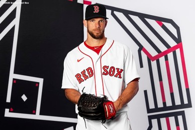 FT. MYERS, FL - FEBRUARY 19: Marcus Walden #64 of the Boston Red Sox poses for a portrait during team photo day on February 19, 2020 at jetBlue Park at Fenway South in Fort Myers, Florida. (Photo by Billie Weiss/Boston Red Sox/Getty Images) *** Local Caption *** Marcus Walden