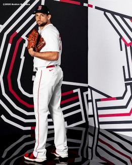 FT. MYERS, FL - FEBRUARY 19: Nathan Eovaldi #17 of the Boston Red Sox poses for a portrait during team photo day on February 19, 2020 at jetBlue Park at Fenway South in Fort Myers, Florida. (Photo by Billie Weiss/Boston Red Sox/Getty Images) *** Local Caption *** Nathan Eovaldi
