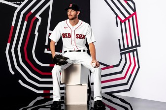 FT. MYERS, FL - FEBRUARY 19: Chris sale #41 of the Boston Red Sox poses for a portrait during team photo day on February 19, 2020 at jetBlue Park at Fenway South in Fort Myers, Florida. (Photo by Billie Weiss/Boston Red Sox/Getty Images) *** Local Caption *** Chris Sale