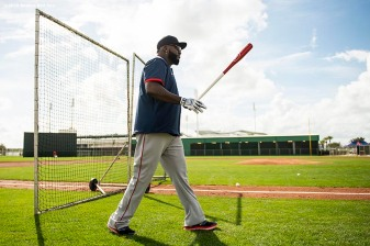 FT. MYERS, FL - FEBRUARY 20: Former designated hitter David Ortiz of the Boston Red Sox walks toward the field during a team workout on February 20, 2020 at jetBlue Park at Fenway South in Fort Myers, Florida. (Photo by Billie Weiss/Boston Red Sox/Getty Images) *** Local Caption *** David Ortiz