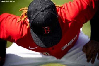 FT. MYERS, FL - FEBRUARY 27: Jonathan Arauz #36 of the Boston Red Sox looks on before a Grapefruit League game against the Philadelphia Phillies on February 27, 2020 at jetBlue Park at Fenway South in Fort Myers, Florida. (Photo by Billie Weiss/Boston Red Sox/Getty Images) *** Local Caption *** Jonathan Arauz