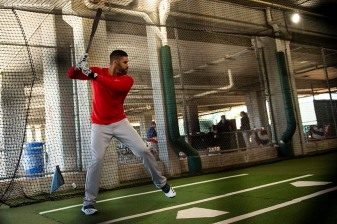 FT. MYERS, FL - FEBRUARY 28: J.D. Martinez #28 of the Boston Red Sox takes batting practice before a Grapefruit League game against the Minnesota Twins at CenturyLink Sports Complex on February 28, 2020 in Fort Myers, Florida. (Photo by Billie Weiss/Boston Red Sox/Getty Images) *** Local Caption *** J.D. Martinez