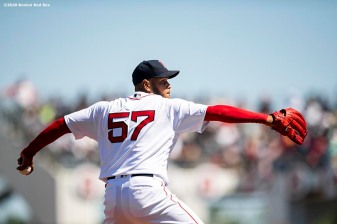 FT. MYERS, FL - FEBRUARY 29: Eduardo Rodriguez #57 of the Boston Red Sox delivers during the first inning of a Grapefruit League game against the New York Yankees on February 29, 2020 at jetBlue Park at Fenway South in Fort Myers, Florida. (Photo by Billie Weiss/Boston Red Sox/Getty Images) *** Local Caption *** Eduardo Rodriguez