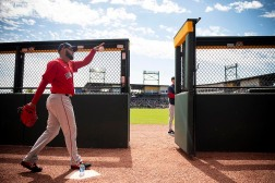 FT. MYERS, FL - MARCH 6: Eduardo Rodriguez #57 of the Boston Red Sox exits the bullpen before a Grapefruit League game against the Atlanta Braves on March 6, 2020 at CoolToday Park in North Port, Florida. (Photo by Billie Weiss/Boston Red Sox/Getty Images) *** Local Caption *** Eduardo Rodriguez