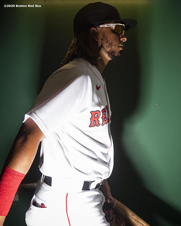 FT. MYERS, FL - MARCH 8: Jonathan Arauz #26 of the Boston Red Sox walks through the tunnel before a Grapefruit League game against the Minnesota Twins on March 8, 2020 at jetBlue Park at Fenway South in Fort Myers, Florida. (Photo by Billie Weiss/Boston Red Sox/Getty Images) *** Local Caption *** Jonathan Arauz