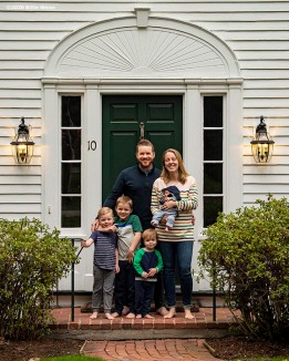 """Family portraits as part of the Front Porch Project during the Coronavirus pandemic in Massachusetts Wednesday, April 29, 2020."""