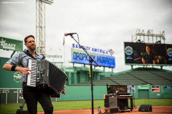 May 28, 2020, Boston, MA: The Dropkick Murphys rehearse during the Streaming Outta Fenway Presented By Pega free livestream performance with no live audience as the Major League Baseball season is postponed due to the coronavirus pandemic at Fenway Park in Boston, Massachusetts Thursday, May 28, 2020. (Photo by Billie Weiss/Pega)