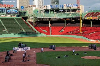 May 28, 2020, Boston, MA: The Dropkick Murphys perform during the Streaming Outta Fenway Presented By Pega free livestream performance with no live audience as the Major League Baseball season is postponed due to the coronavirus pandemic at Fenway Park in Boston, Massachusetts Thursday, May 28, 2020. (Photo by Billie Weiss/Pega)