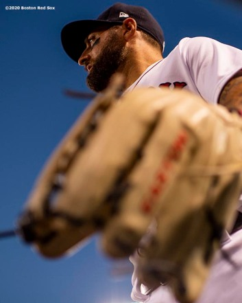 BOSTON, MA - JULY 28: Kevin Pillar #5 of the Boston Red Sox looks on during the third inning of a game against the New York Mets on July 28, 2020 at Fenway Park in Boston, Massachusetts. The 2020 season had been postponed since March due to the COVID-19 pandemic. (Photo by Billie Weiss/Boston Red Sox/Getty Images) *** Local Caption *** Kevin Pillar