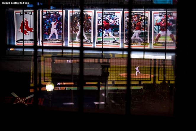 BOSTON, MA - JULY 28: A reflection is shown during a game between the Boston Red Sox and the New York Mets on July 28, 2020 at Fenway Park in Boston, Massachusetts. The 2020 season had been postponed since March due to the COVID-19 pandemic. (Photo by Billie Weiss/Boston Red Sox/Getty Images) *** Local Caption ***