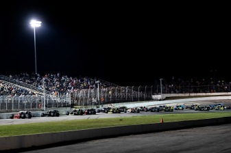 A general view from inside the track during the Thompson 150 for the NASCAR Whelen Modified Tour at Thompson Speedway Motorsports Park in Thompson, Connecticut on September 3, 2020. (Billie Weiss/NASCAR)