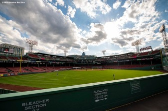 BOSTON, MA - SEPTEMBER 6: A general view during a game between the Boston Red Sox and the Toronto Blue Jays on September 6, 2020 at Fenway Park in Boston, Massachusetts. The 2020 season had been postponed since March due to the COVID-19 pandemic. (Photo by Billie Weiss/Boston Red Sox/Getty Images) *** Local Caption ***