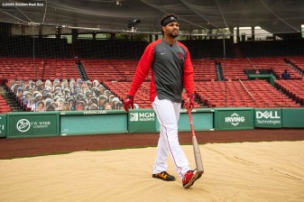 BOSTON, MA - SEPTEMBER 22: Xander Bogaerts #2 of the Boston Red Sox looks on before a game against the Baltimore Orioles on September 22, 2020 at Fenway Park in Boston, Massachusetts. The 2020 season had been postponed since March due to the COVID-19 pandemic. (Photo by Billie Weiss/Boston Red Sox/Getty Images) *** Local Caption *** Xander Bogaerts