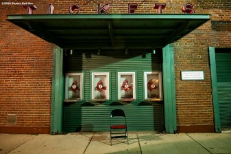 BOSTON, MA - SEPTEMBER 23: An empty ticket booth is shown during a game between the Boston Red Sox and the Baltimore Orioles on September 23, 2020 at Fenway Park in Boston, Massachusetts. The 2020 season had been postponed since March due to the COVID-19 pandemic. (Photo by Billie Weiss/Boston Red Sox/Getty Images) *** Local Caption ***